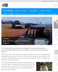 Boko Haram terror escalates in Nigeria: Deutsche Welle